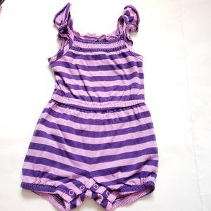 6-12M Striped Jumper Purple